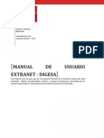 Manual de Usuario Extranet - DIGESA