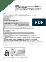 Presentación del curso word pad