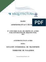Bases Administrativas y Tecnicas - 4to Concurso de Arquitectura