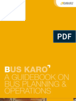 Bus Karo Guidebook on Planning and Operations