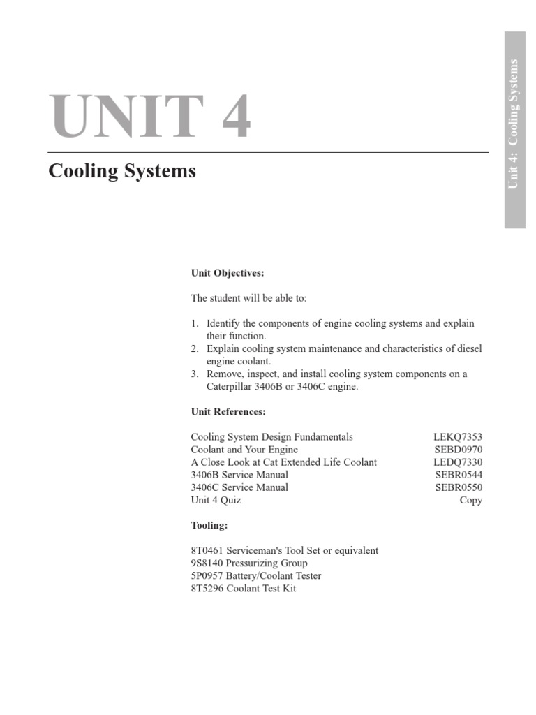 Unit4l1 2s Radiator Propulsion Caterpillar Engine Coolant