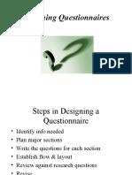 481 Designing Questionnaires