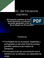 Evolución  del transporte marítimo