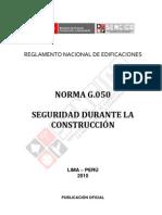 g.050 Seguridad Durante La Construccion