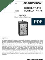 TR110 Manual
