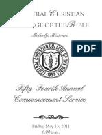 CCCB 2011 Commencement Program