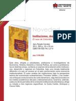 Instituciones, desarrollo y regiones. El caso de Colombia