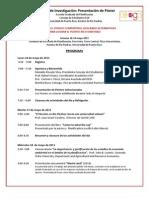 Programa Simposio Investigacion EGP