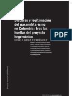 discurso y legitimación del paraimilitarismo en Colombia
