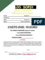 Modulo d'ordine DVD 12 luglio
