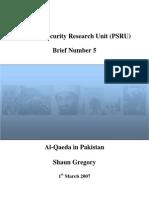 Al-Qaeda in Pakistan by Shaun Gregory