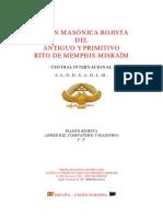Masoneria Rojista Con Rituales
