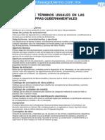 Glosario Terminos Contrataciones Gubernamentales