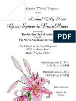 2011 GCV Lily Show hosted by The Garden Club of Fairfax