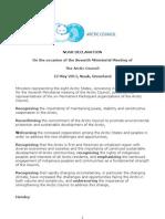 Arctic Council Nuuk Declaration 2011