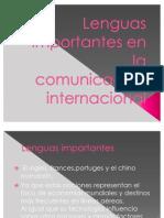 Lenguas importantes en la comunicación internacional