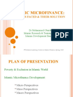 Islamic Micro-finance the Problems Faced and Their Solution