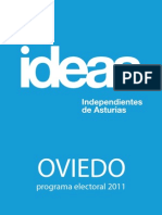 Programa de IDEAS para Oviedo  2011 - José Luis Viesca