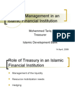 Treasury Management in an Islamic Financial Institution Jeddah