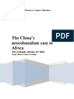 The China's neocolonialism case in Africa