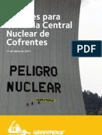 Razones para cerrar la central nuclear de Cofrentes