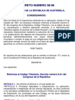 decreto número 58-96 reformas al codigo tributario