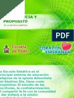 1. Importancia y Proposito De La Escuela Sabática