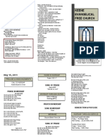 Church Bulletin - May 15th
