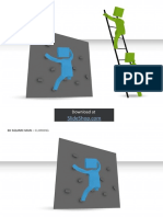 3D Square Man - Climbing
