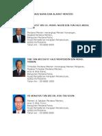 Senarai Nama Dan Alamat Menteri