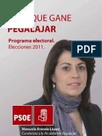 Programa Electoral del Partido Socialista de Pegalajar 2011