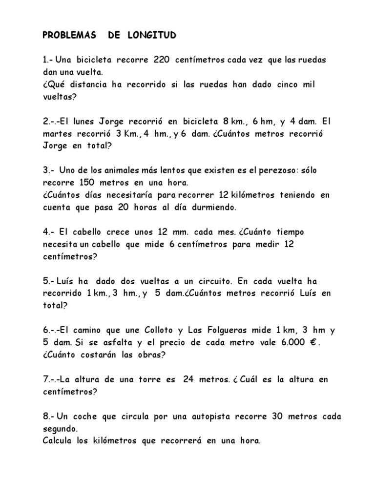 Problemas De Matematicas Para Cuarto De Primaria Para Resolver ...