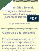 Gramática Formal de Jorge Pérez Silva