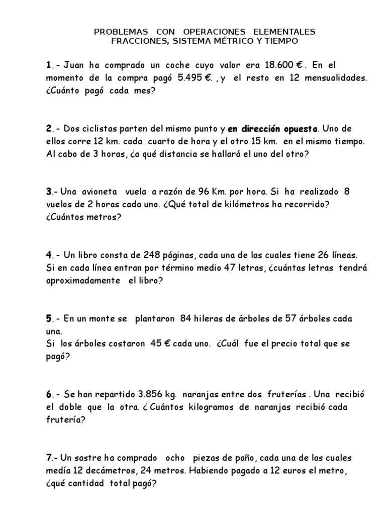 Fichas Matemáticas 5º Y 6º Primaria Violencia Agitación