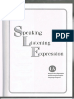 Speaking Listening Expressions Sample