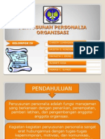 Penyusunan Personalia Organisasi