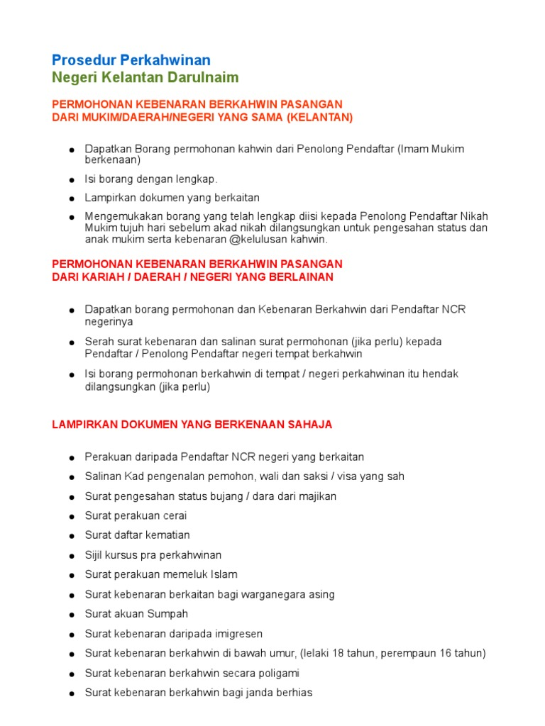 Prosedur Nikah Kelantan
