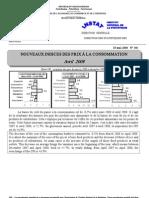 Indices des prix à la consommation - Avril 2008 (INSTAT - 2008)