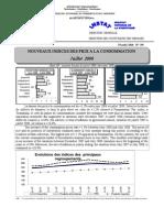 Indices des prix à la consommation - Juillet 2008 (INSTAT - 2008)