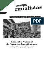 Documento del Encuentro Nacional de Organizaciones Docentes