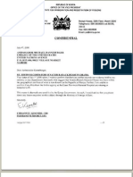 07.04.2008.  Emmanuel Kisombe letter to Michael Ranneberger.  Kenya.