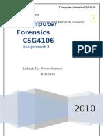 10137743 Computer Forensics Assignment 2