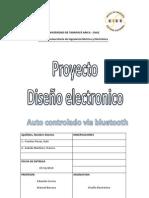 Carro Robot, microcontrolador bluetooth
