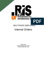 Internal Orders