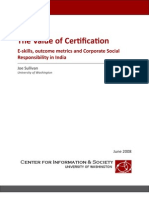 E-skills, outcome metrics and Corporate Social Responsibility