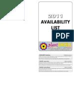 Availability List