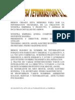 EMPRESA TETORRASTOAH S