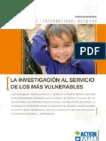 LA INVESTIGACIÓN AL SERVICIO DE LOS MÁS VULNERABLES
