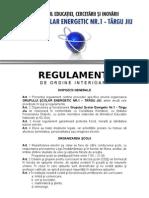 2009 2010 Regulament de Ordine Interioara