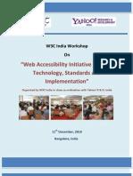 Web Accessibility Initiative in India